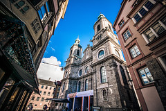On the approach (Melissa Maples) Tags: innsbruck österreich austria europe nikon d3300 ニコン 尼康 sigma hsm 1020mm f456 1020mmf456 winter cathedral church domzustjakob domstjacob