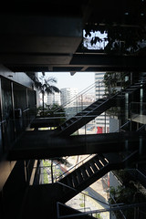 2018-04-FL-183907 (acme london) Tags: barcelona bridges corridor fira hotel jeannouvel landscape renaissancehotelfira spain stairs