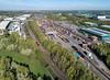 7X10 at Hams Hall (robmcrorie) Tags: 66724 7x10 tube stock move 20311 20314 gbrf banbury chaddesdon hams hall coleshill warwickshire train rail railway phantom 4 yard intermodal parkway station