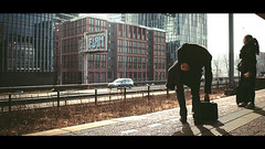 [ Inbound ] (Visual Flows) Tags: amsterdam train station sunset person individual composition cinematic cinematography photography zuid netherlands nederland visual flows visualflows street 24mm