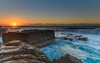 Rocky Sunrise Seascape (Merrillie) Tags: daybreak sunrise northavoca nature water rocks centralcoast morning newsouthwales waves earlymorning nsw sea avocabeach ocean rocky landscape northavocabeach coastal waterscape sky seascape australia coast dawn outdoors