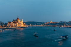 Blue Danube (cuellar) Tags: architecture blue budapest danube landscape parliament river scenery sunset travel hungary hu