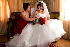 Marguerite's wedding. (Wildeye Photography) Tags: wedding bride bridesmaid weddingdress flowers