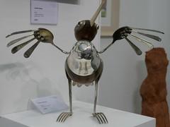 Dean Patman, Wader (jacquemart) Tags: cheltenhamartfair 2018 sculpture cutlery knife fork spoon nature metal wood honiton deanpatman wader