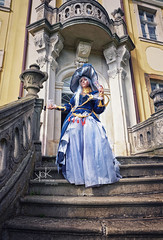 Fotocon 2017: Ailiroy as Astrologian from Final Fantasy XIV, by SpirosK photography (SpirosK photography) Tags: finalfantasy finalfantasyseries finalfantasyxiv cosplay finalfantasycosplay fotocon fotoconbytechland fotocon2017 fotoconbytechland2017 portrait ailiroy astrologian steps stairs escaleras game videogamecharacter videogame