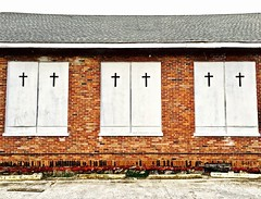 """Hear Our Prayer"" (Halvorsong) Tags: christ jesus god christianity church architecture brick wall walls building buildings art photography pattern patterns texture textures textured old composition photopgraphy photosafari weathered faith nashville thesouth tradition love charity goodness religion religious jesuschrist thecross salvation hallelujah explore discover color white black red street roadside urban city america americana"