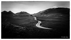 The road to..... - 2018-03-21st (colin.mair) Tags: bw black landscape lanzarote park road rock timanfaya timanfayanationalpark white border lava monochrome volcano