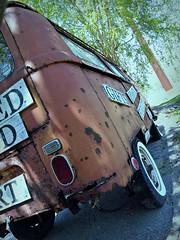 Art... in My eyes (Dave* Seven One) Tags: vw volkswagen type2 vwbus baywindow art rustyart rusty rust rotted decay junk roadsideamerica shops store patina rearview