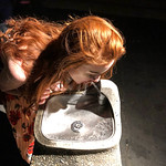 Redhead at the Water Fountain - Hollywood Bowl - Los Angeles, CA thumbnail