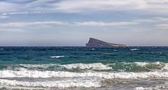 La Isla de Benidorm (Carlos SGP) Tags: españa es comunidadvalenciana alicante benidorm isladebenidorm isla mar mediterraneo island sea mer île cielo nubes agua playa ola roca costa bahía