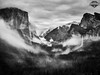 CF009428 Yosemite EDITED MARKED - 30-Apr-2018 to 04-May-2018 (f/13 photography) Tags: yosemite national park nationalpark cliffs granite landscape photography landscapephotography yosemitenationalpark tunnel view tunnelview scenic anseladams black white blackandwhite blackwhite fog sunset waterfall bridalveil bridalveilfalls forrest pine overcast cloudy clouds rain longexposure long exposure ndfilter nd
