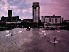 Liverpool Docklands Watersports Centre (ronramstew) Tags: liverpool dock merseyside river sport water watersports skiing waterskiing sonyrx100