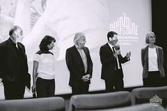 Discours du maire avec president BNP, ministre de la culture et Louise.
