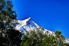New green under ancient hills (Fr Paul Hackett) Tags: mountain spring green snow sky chamonix
