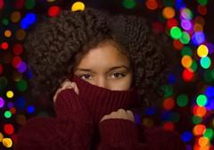 Holiday Glam (hiphopnerdphoto) Tags: christmasshoot model christmaslights 50mm canonphotography xmas christmas