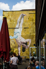 Break Dancing Jesus (PDKImages) Tags: bristol bristolstreetart street art urban banksy ukstreetart cityscene scene jesus christ breakdancing