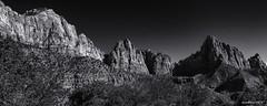Zion_#2 (evanffitzer) Tags: zion zionnationalpark mountains geology geologic rock grandeur bw blackandwhite monochrome mono cliffs vista scenic landscape canon canona60d