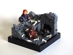 Moria 12x12 (Elven Ranger) Tags: lego lego12x12 vignette moria dwarves lotr