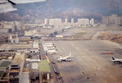 1970 Landing at Kaitak airport (Eternal1966) Tags: old hong kong