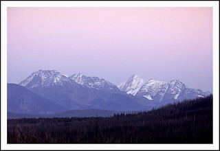 Alpenglow Over the Peaks of Glacier National Park