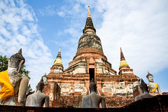 Wat Yai Chaiyamongkhon (Roy- HZ Visual Studio) Tags: ayutthaya chaiyamongkhon famous nakhon phra temple thailand wat yai ancient antique architecture art asia asian ayuthaya beauty buddha buddhism 泰國 廟宇