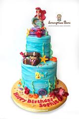 Little Mermaid Birthday Cake (Scrumptious Buns (Samantha)) Tags: littlemermaid birthdaycake birthday cake arial little mermaid underthesea coral underwater celebration girls disney scrumptiousbuns norwich norfolk wroxham broadlandarea wpkidscakes