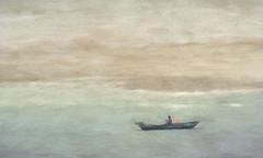 The Young Man and the Sea (Chizuka2010) Tags: boat fishing fisherman portugal travel travelphotography fineart painterly impressionistic minimalism fozdoarelho ocean sport