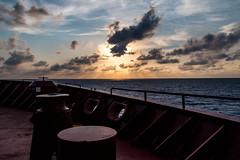 On the Bow (langdon10) Tags: atsea canon70d gulfofmexico laurentiadesgagnes navigation ship sunset tanker focsledeck nautical ocean sunlight