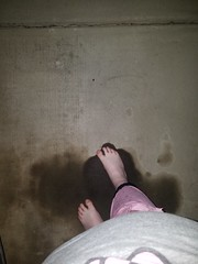 Playing around in an awesome oil spot in my driveway. I love my soles to get as black as possible :) ♥ (gorejessfeet) Tags: dirtyfeet dirtysoles barefoot barefeet