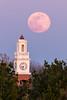 Pink Moon (Ryan Jeske) Tags: canon canon80d canonef100400mmf4556lisiiusm clocktower coxhallgardens fullmoon moon moonrise telephoto tower