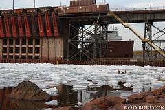 hjlo5118bowdkice_rb (rburdick27) Tags: honjamesloberstar marquette lakesuperior ice oredock interlakesteamshipcompany scenicmichigan