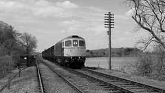 Over the Water. (Duck 1966) Tags: gcr 33035 crompton class33 emrps goods train diesel locomotive