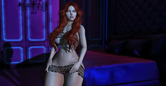 ♚ Look #450 ♚ (Caity Saint) Tags: sintiklia ebody revelation mesh redhead backdrop sl secondlife pixels