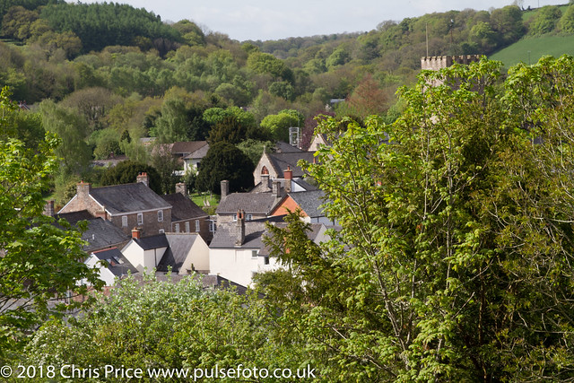 Bampton from the site of the former Norman Castle, Devon