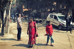 0749 Kathmandu Morning III (Hrvoje Simich - gaZZda) Tags: street city people woman child man outdoors kathmandu nepal asia nikon nikond750 nikkor5014 gazzda hrvojesimich