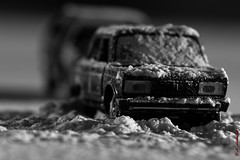 Lada under the snow 3 (alexey & kuzma) Tags: lada snow scale model fujifilm xt20 monochrome winter ussr russia soviet