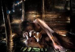 west papua (silvia.alessi) Tags: luce ngc girl dog papua house treehouse wild nature light indonesia westpapua forest wood asia casa ragazza