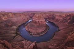 Around the Bend (Bereno DMD) Tags: horseshoe bend curve shape line lines az arizona river colorado icon iconic red blue green reflection southwest road roadtrip vacation memory memories rock rocks geology nature land landscape sunrise am amazing