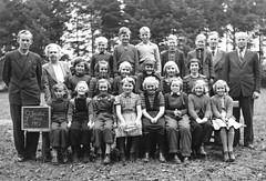 Over Jerstal skole (theirhistory) Tags: children kids boy girl school class group form teacher jumper trousers shoes wellies rubberboots