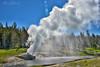 Riverside Shower (Jim Johnston (OKC)) Tags: riversidegeyser eruption steam smoke fireholeriver uppergeyserbasin yellowstonepark wyoming