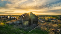 Forgotten Toolshed (PNW-Photography) Tags: forgotten abandoned lost found rural farming farmer farm farmhouse shed country washington pasco kahlotus tricities rokinon rokinon12mm sonya6000 sony a6000 sunset sky skyscape landscape warm