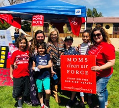 Moms with Mayor Hillary Schieve at Reno Earth Day