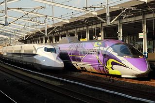 SHINKANSEN 500 Series Type EVA at Fukuyama station