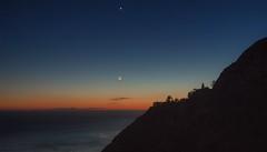 planetary alignment (gwashley) Tags: california monterey bigsur crescent moon venus sunset