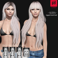 Alisa (FABIA.HAIR) Tags: whimsical hair rigged moda woman beauty look piktures fabia nice meef head special sl second secondlife sweet event fashion hairstyle life lively avatar spam style shopping new release best love evwryday art