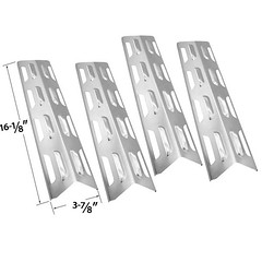 4-PACK-REPLACEMENT-STAINLESS-STEEL-HEAT-PLATE-SHIELD-FOR-PERFECT-FLAME-61701-BACKYARD-GRILL-BY12-084-029-97 (grillpartszone) Tags: stainless steel heat shield perfect flame