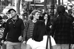 People on Market St 74 (TheseusPhoto) Tags: monochrome blancoynegro blackandwhite bnw noir people streetphotography street citylife city candid candids couple marketstreet sanfrancisco
