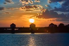 sunset overlooking the raft on the Kuban River near the city of Nevinnomyssk, North Caucasus (uiriidolgalev) Tags: sunsetoverlookingtheraftonthekubanrivernearthecityofnevinnomyssk northcaucasus