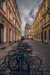 Bikes in Wroclaw (Vagelis Pikoulas) Tags: bike bicycle bicycles wroclaw poland europe city cityscape urban landscape building buildings tokina 1628mm canon 6d view colors colours clouds sky skyscape street may spring 2018