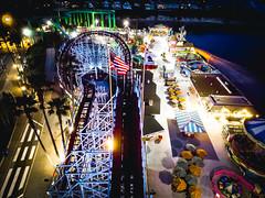 Top of the Coaster (Justin Garofano) Tags: santacruz california nightphotography pacific ocean beach boardwalk rollercoaster